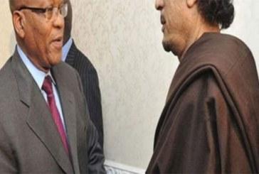 Indexé, Jacob Zuma se prononce enfin sur la fortune de Mouammar Kadhafi