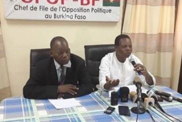AFFAIRE YIRGOU : L'Opposition politique dénonce » le silence complice du Président du Faso»