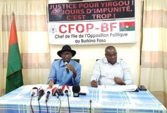 Crise sécuritaire au Burkina Faso : l'opposition politique suggère une opération « Bori bana »