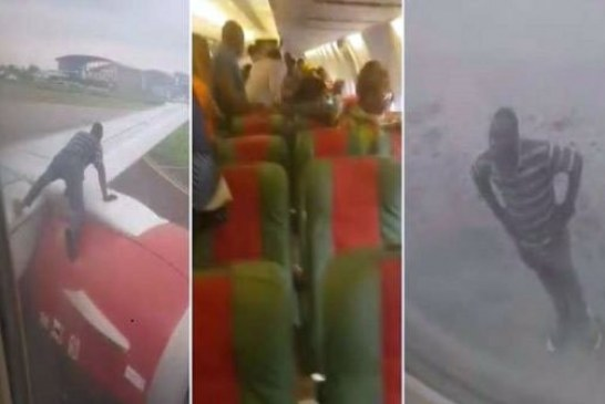 Nigeria : Un homme tente de voyager en s'accrochant à l'aile d'un avion en plein décollage (vidéo)