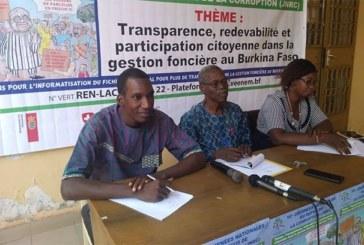 Burkina : le REN LAC dénonce une gestion « anarchique » du foncier
