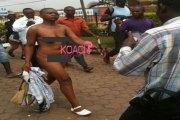 Cameroun : Une femme descendue de sa voiture de luxe traverse la rue toute nue