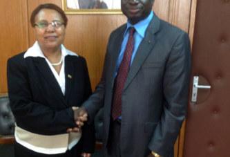 Diplomatie: l'Ambassadeur d'Ethiopie en Côte d'Ivoire et au Burkina chez son homologue burkinabè à Abidjan