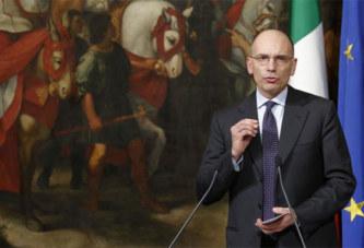 Le chef du gouvernement italien annonce sa démission