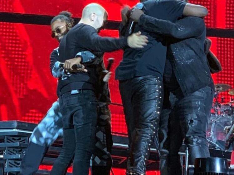 Le groupe Sexion d'Assaut s'est retrouvé sur scène avec Maitre Gims au stade de France