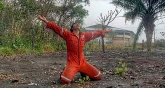 Le secours de l'Amazonie semble tomber du ciel