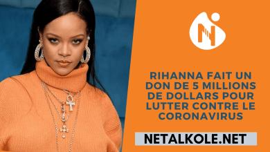 Photo of Rihanna fait un don de 5 millions de dollars pour lutter contre le coronavirus