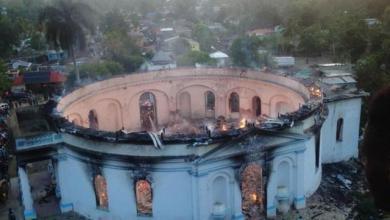 Photo of Milot (Nord) : incendie de l'église catholique de la commune