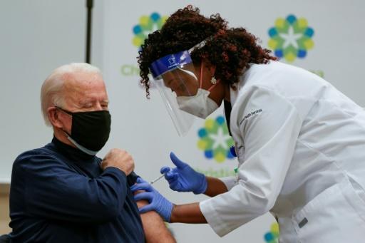 Joe Biden vacciné contre le Covid-19 le 21 décembre 2020 dans le Delaware - AFP