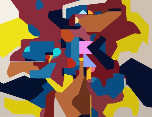 an abstract digital image of a painting converted to a vector graphic