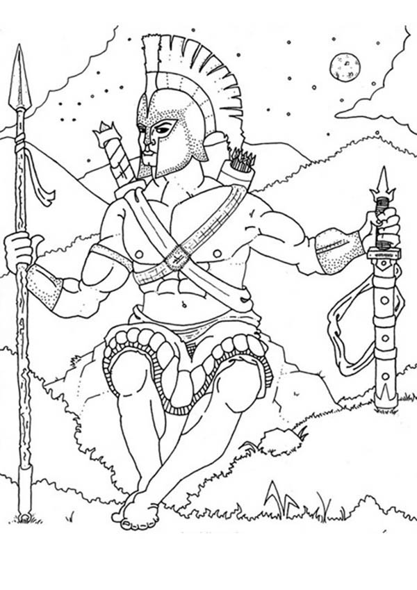 Ares From Greek Gods And Goddesses Coloring Page NetArt