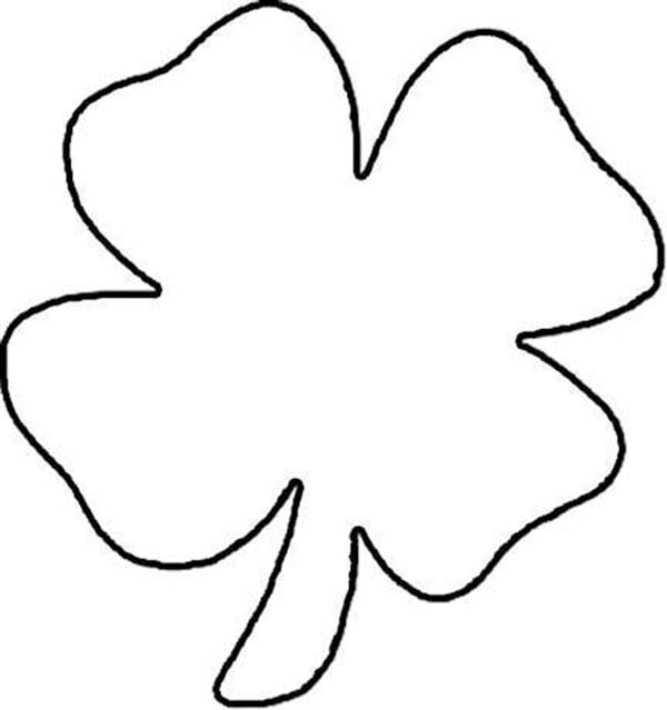 Lets Draw Four Leaf Clover Coloring Page Netart
