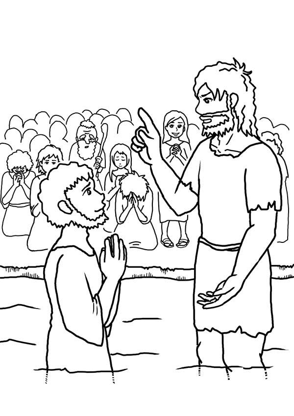 John The Baptist Speak To Jesus Coloring Page NetArt