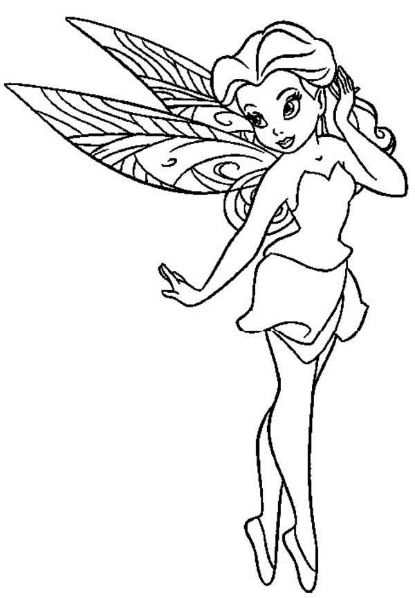 Pretty Rosetta Pixie Coloring Page NetArt