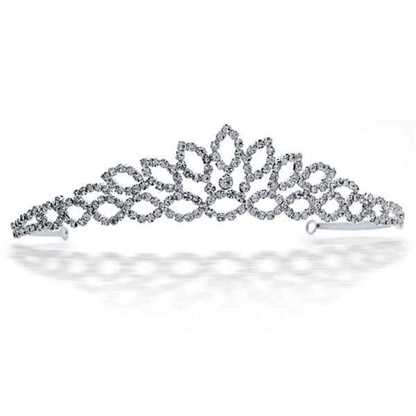 Sterling Silver Tiara Morning Dew In Princess Crown