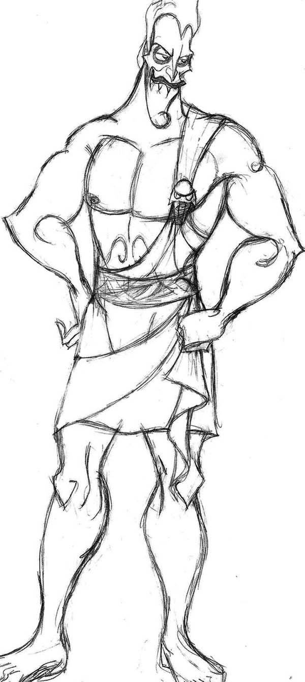 Hades Muscle Body Coloring Page NetArt
