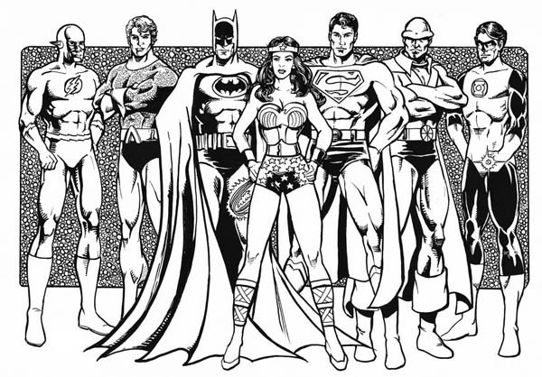 Justice League Of America Coloring Page Netart