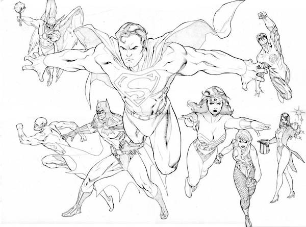 The Brave And The Bolt Justice League Coloring Page Netart