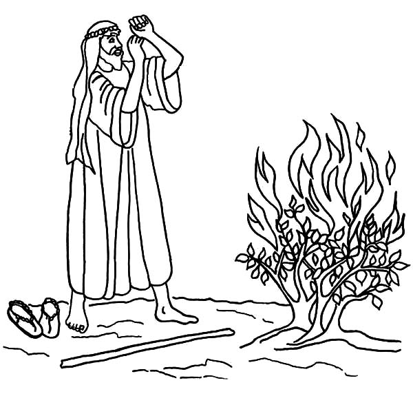burning bush coloring page # 32