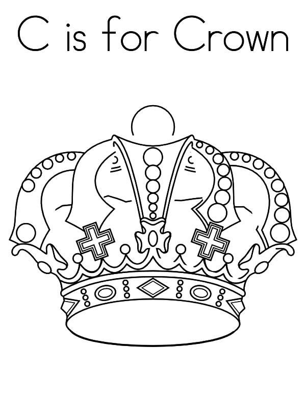 c is for crown coloring pages  netart