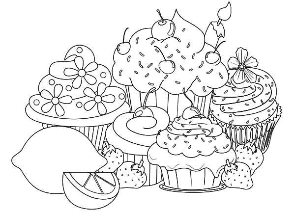 cupcakes coloring pages # 30