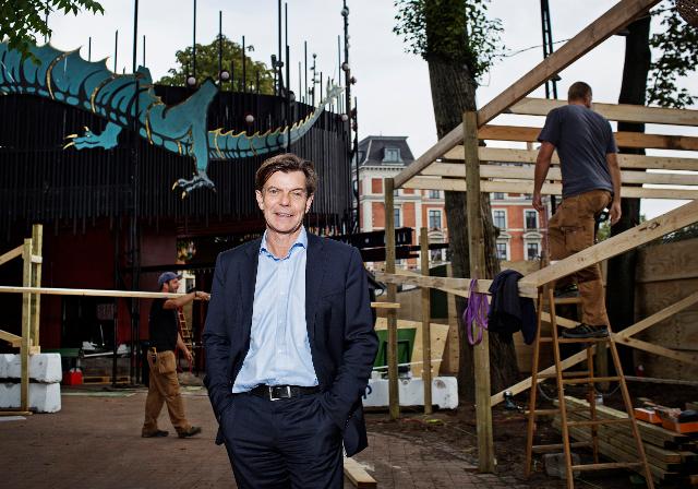 Tivolis administrerende direktør Lars Liebst på byggepladsen i Tivoli. PRfoto.