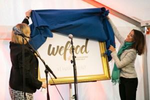 H. K. H. Prinsesse Marie og generalsekretær Birgitte Qvist-Sørensen erklærer Wefood åben. Foto: Mikkel Østergaard