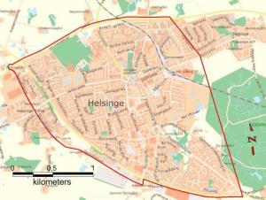 Politiet har indført visitationszone i Helsinge. (Handout/Nordsjællands Politi)