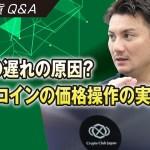 【仮想通貨Q&A】ICOの遅れの原因?ビットコインの価格操作の実態は?