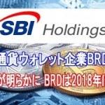 SBIによる仮想通貨ウォレット企業BRDへの出資額が明らかに  BRDは2018年に急成長