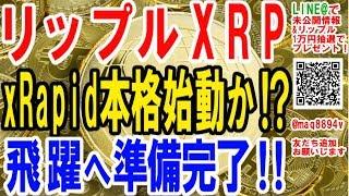 【仮想通貨】リップルXRP xRapid本格始動か!?飛躍へ準備完了!!【暗号通貨】