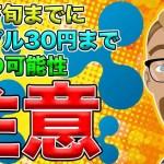 【仮想通貨】リップル(XRP)4月までに30円まで暴落する可能性あり