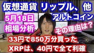 【仮想通貨】33円で850万買った、XRPリップルを40円で全て利確。その理由と資金効率について。