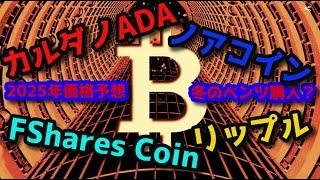 カルダノADA 仮想通貨でベンツのゲレンデ購入チャレンジ!ノアコイン FShares Coin リップル 2025年の保有数価格予想!