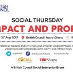 British Council Ghana announces 'Social Thursday' event