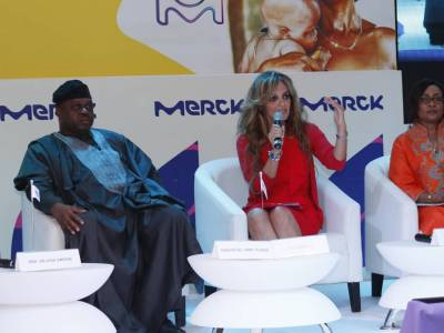 Dr.Rasha kelej CEO of Merck foundation discusssing challenges of Cancer access in Africa