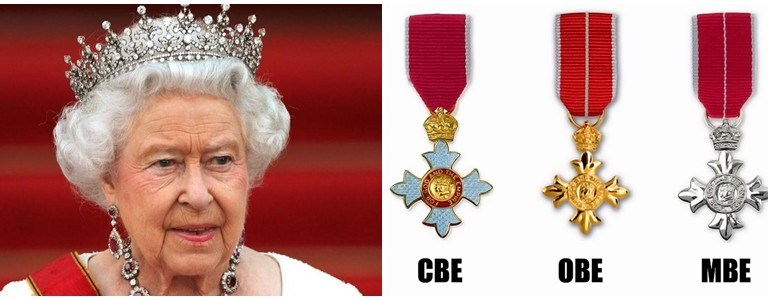 British Honours: The difference between an MBE, CBE, OBE, and knighthood