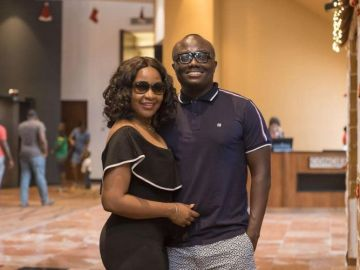 Bola Ray shares adorable weekend photos with family at Accra Marriott Hotel