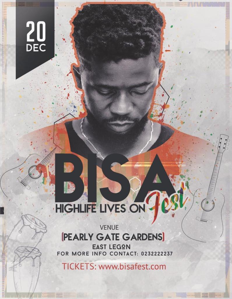 Bisa Kdei's maiden concert slated for December 20th