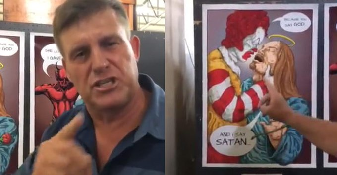 South African Christian school criticized for exhibiting'satanic artwork'