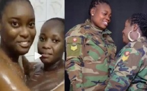 Romantic video of Ghanaian lesbian 'soldiers' goes viral