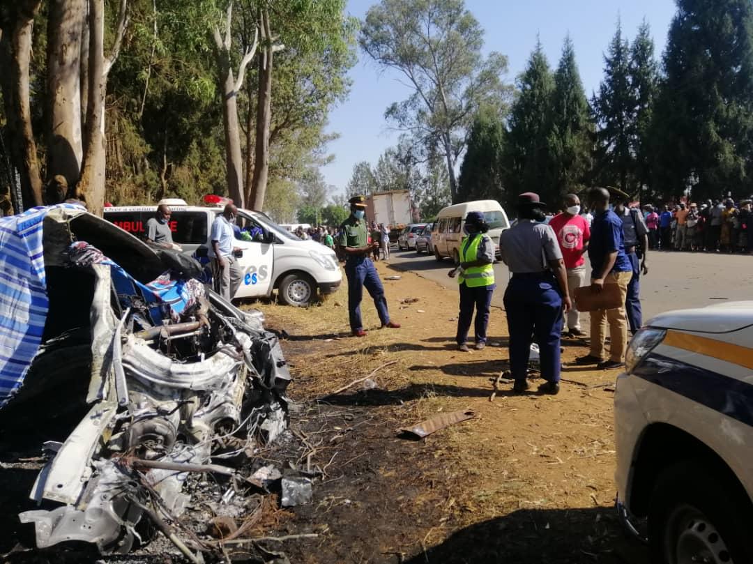 Photos From Ginimbi Kadungure Fatal Accident Scene