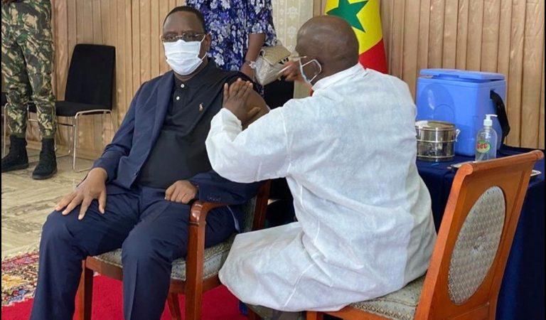 No tears: Senegalese President Macky gets Covid-19 vaccine jab
