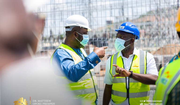 Energy Minister Inspects Pokuase Bulk Supply Point (BSP), others
