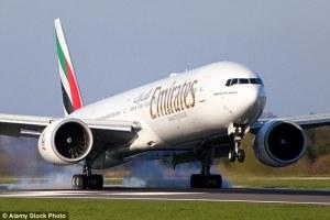 Emirates flight from Dubai