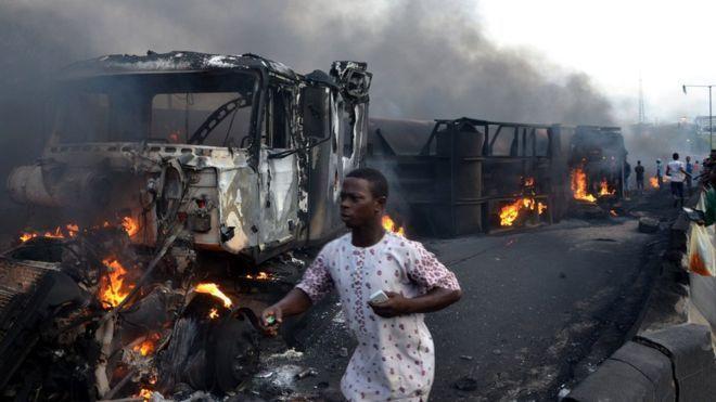 Gas tanker explosion kills at least 35 in Nigeria