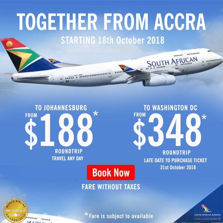 SAA Ghana Promo 18th October