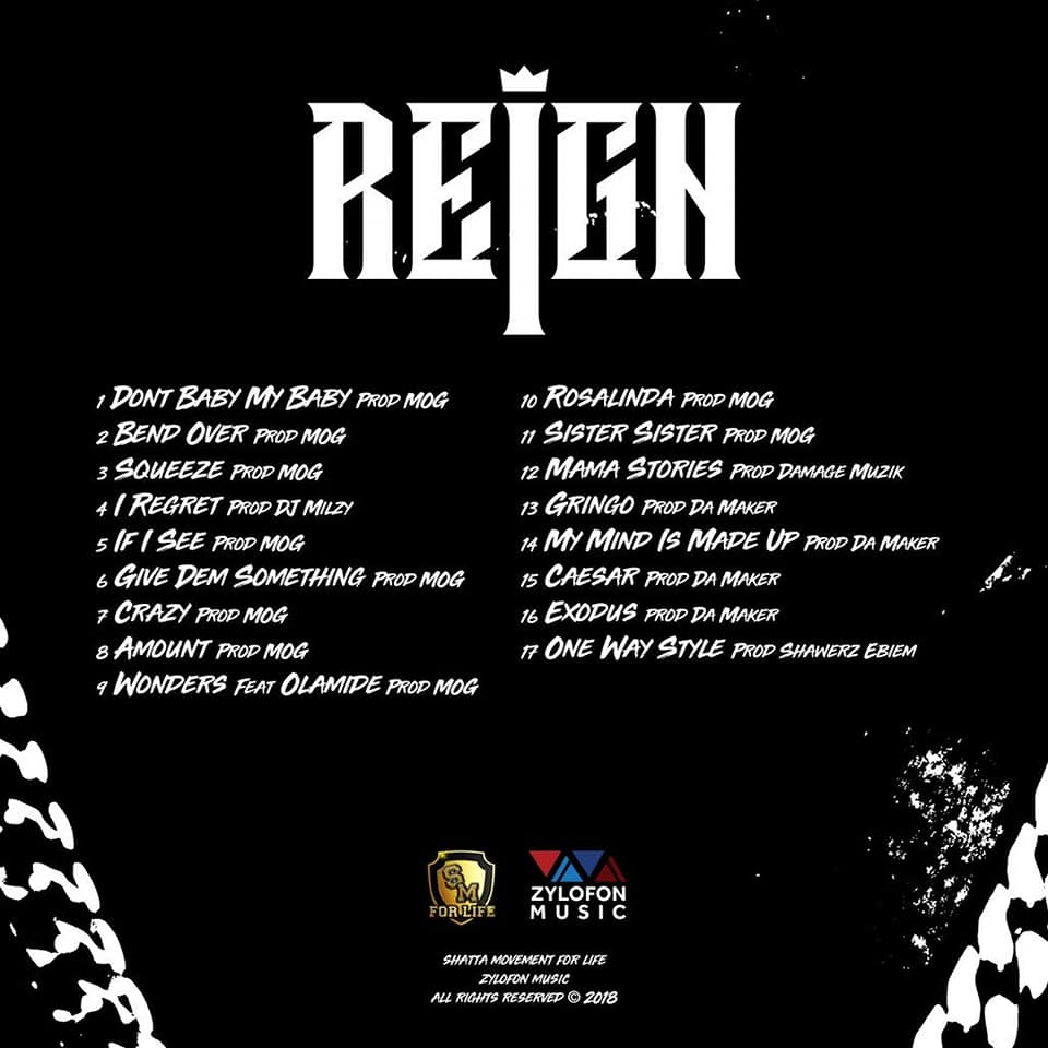 Shatta Wale unveils tracklist and cover art for 3rd album 'Reign'