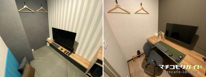 写真左がシアタールーム、右がチェアルーム