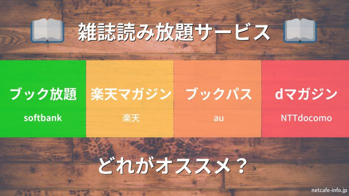 【2019年版】雑誌読み放題サービスは読めるタイトルが結構違う!【比較・オススメはコレだ!】